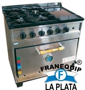 Cocina Tecno Calor semi industrial AB 4 (franequip LA PLATA)